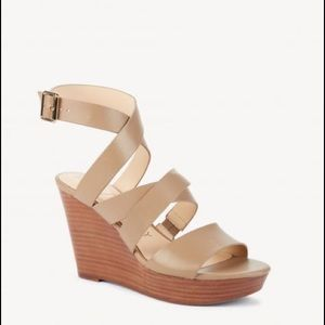SOLE SOCIETY  Strappy Leather Platform Wedges